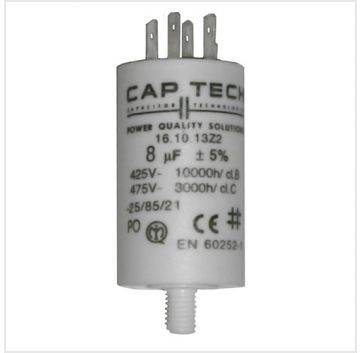 450 VAC 100.0uF Double-Faston Multi-Purpose Run Capacitor